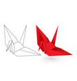 paper origami bird vector image