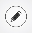 pencil outline symbol dark on white background vector image
