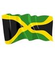 political waving flag of jamaica