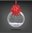 realistic christmas ball shiny glass xmas vector image
