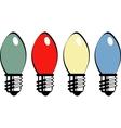 Retro bulbs vector image vector image