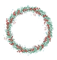 Round Christmas wreath with spruce branches and vector image vector image