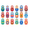 russian doll colored traditional moscow toys vector image vector image