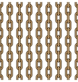 Seamless pattern of golden chains vertically vector image