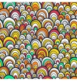 Seamless pattern with colorful abstract scale vector image vector image