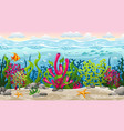 seamless underwater landscape with separate layers vector image
