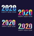 set happy 2020 new year insta color banner for vector image vector image