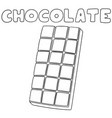set of chocolate vector image vector image