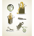 Set of elements - hairdresser vector image
