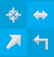 set of simple pointer icons vector image vector image