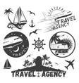 set of travel and transportation labels in vector image vector image
