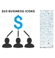Shareholders Icon with Flat Set vector image vector image