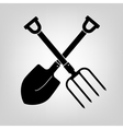 shovel and pitchfork icon vector image