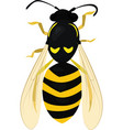 sketch of wasp wasp isolated on white bee vector image vector image