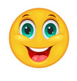 smiling smiley face vector image vector image