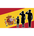 Spain soldier family salute vector image vector image