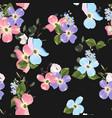 spring autumn violet blue pink flowers vector image vector image