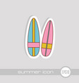 surfboard icon summer vacation vector image
