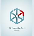 think outside box vector image