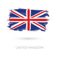 united kingdom colorful brush strokes painted vector image vector image