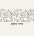 user interface banner concept vector image