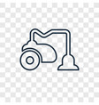 vacuum cleaner concept linear icon isolated on vector image
