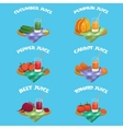 Vegetables Emblem Set vector image vector image