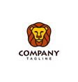 wild lion head logo design vector image