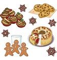 Xmas cookies vector image