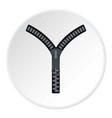 zipper with lock icon circle vector image vector image