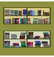 bookshelf flat design vector image