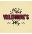 Valentines Day Card Vintage Background vector image