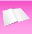 3d flyer paper mock-up design vector image vector image