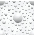 abstract background with white glossy spheres vector image vector image