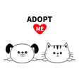 adopt me dog cat head face hands paw holding vector image vector image