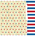 American striped pattern vector image vector image