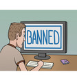Banned vector image