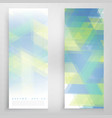 banners and triangles vector image vector image