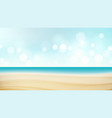 beach tropical travel seaside view poster vector image