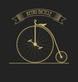 black gold old vintage bicycle vector image