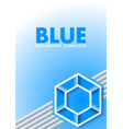 blue document template with lines and hexagonal vector image vector image