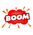 boom icon pop art style vector image