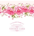Border of flowers for seamless texture Textile vector image vector image
