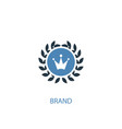 brand concept 2 colored icon simple blue element vector image vector image