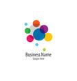 bubble logo template icon vector image