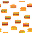 burger seamless pattern fast food vector image vector image