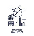 business analytics line icon concept business vector image vector image