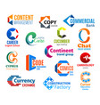 business icons letter c corporate identity vector image vector image