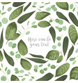 Card floral design with green watercolor herbs