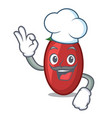 chef goji berries character cartoon vector image
